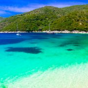 Best beches of Lefkada island – Mikros Gialos. Beautiful Greece series
